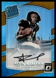 2017 Donruss Optic Rated Rookies Autographs Bronze #199 Alvin Kamara