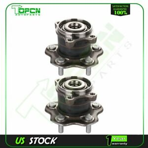 2 x Rear New Wheel Hub Bearings And Assembly 5 Lugs For Nissan Rogue 2008-2013
