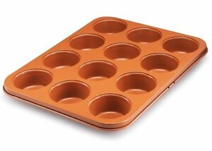 12 Cup Non Stick Copper Muffin Pan Cup Cake Pan 12 Cupcakes Pan Bakeware