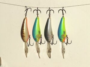 FOUR RAPALA DOWNDEEP 2-34