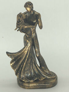 Element of Elegance to any Home Cold Cast Bronze Dancer Dancing Statue Figure NR