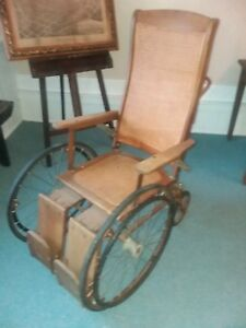 Antique GENDRON Wheelchair used at the 75th CIVIL WAR Reunion Gettysburg in 1938