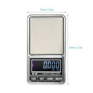 New High Precision Digital Electronic Milligram Scale For Jewelry Reloading I1S8
