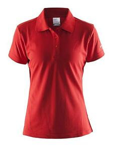 Craft Women's Polo Shirt Classic Button Style Workout Top Dry Fit Golf T