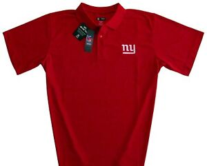 New York Giants NFL Men's Classic Dri Fit Polo Shirt Red Big & Tall Sizes