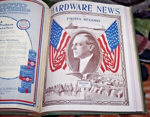 1917 1918 Hardware News & Pasha Record Catalog Novo Batteries Victor Gas CO.