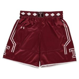 Under Armour Temple Owls Youth Cardinal Replica Basketball Shorts
