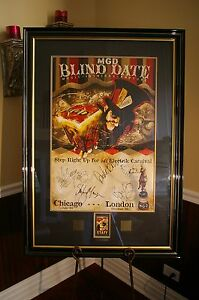 MGD BLIND DATE GARBAGE  RED HOT CHILI PEPPERS - Autographed  Signed Poster!