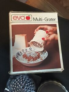 Vintage Eva Multi Grater Kitchen Helper Stainless Steel Blades