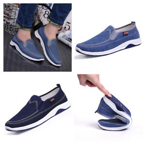 Men Male Canvas Espadrille Outdoor Casual Low-cut Flat Shoes Slip On Sneakers