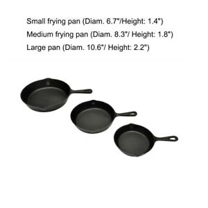Cast Iron Non Stick Grill Pan BBQ Steak Pans Skillet Camp Cooking Cookware Set