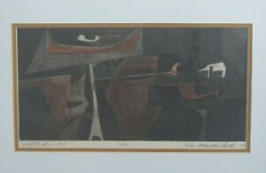 Ken Mackintosh mid century 1964 signed # print lithograph abstract non objective $169.00