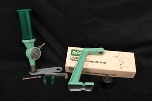 RCBS Reloading Uniflow Powder Measure Large & Small Drums Micrometers & Stand