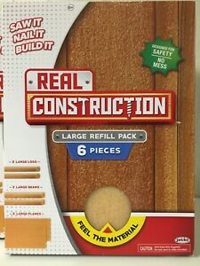 Real Construction Large Refill Packs SAW IT- NAIL IT -BUILD IT !  7 Packs