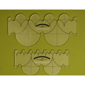 Good Measure Every Clamshell 1 4quot; Thick Machine Quilting Ruler Set of 2 $39.99