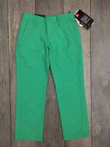 Under Armour Boys Match Play Golf Pants Youth Size 6 Jade Green NWT MSRP $65.00
