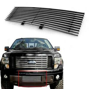 1pc Polished Billet Lower Bumper Grille Grill Insert For Ford F-150 2009-2014