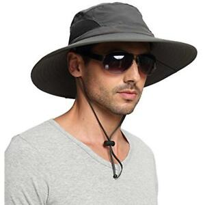 Men's Fishing Hats Waterproof Sun Hat Outdoor Protection Bucket Safari Cap For