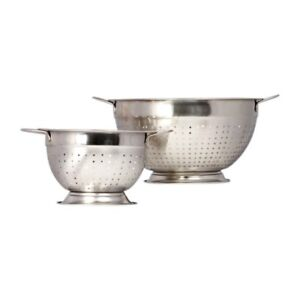 Hight Quality Stainless Steel Deep 2 pcs. Colander Strainer Set
