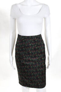 Roseanna Black Nylon Marquise Technique Pencil Skirt Size Extra Small New $325