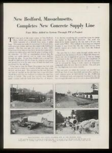 1935 New Bedford Massachusetts water supply construction photo trade article