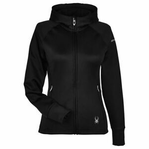New Spyder Women's Full Zip Hoodie Hoodied Shirt Jacket Top - RUNS SMALL