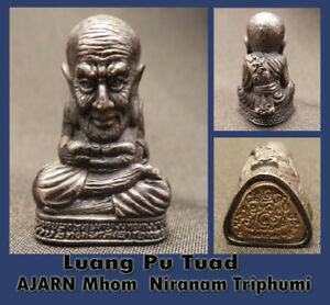 Real Thai Amulet Holy Luang Pu Tuad Strong Power luck protection By Aj Mom