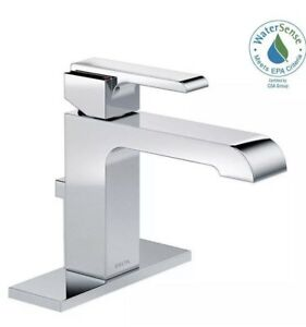 DELTA ARA SINGLE HANDLE BATHROOM FAUCET CHROME 567LF-MPU BRAND NEW