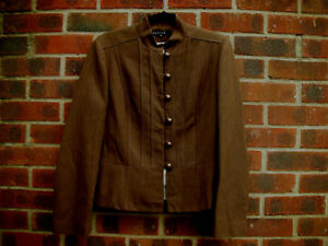Article Cotton Blend Military style Brown jacket size EU 44 UK 14