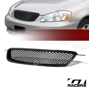 For 2003-2004 Corolla Jdm Blk Tr-D Sport Mesh Front Hood Bumper Grill Grille Abs