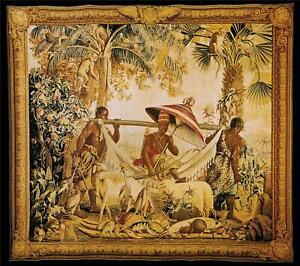 TAPESTRY DAVID MICHAEL TAPESTRIES CARRYING THE KING 8X87 COTTON WOOL LIN