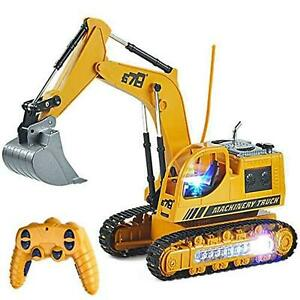 RC Excavator Truck Toy Construction Tractor Car for Toddler Boy Full Functional