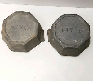 2X VTG Divco Lead Alloy Ingots 9 Lbs 14 Oz Total Weight Casting Bullets Sinkers