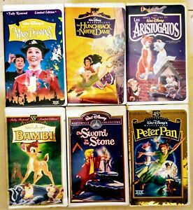 Walt Disney Masterpiece Collection VHS tapes - Vintage Collector's items