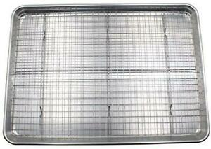 Checkered Chef Baking Sheet and Rack Set - Aluminum Cookie SheetHalf Sheet Pan