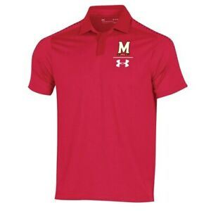 Under Armour Maryland Terrapins Red 2018 Coaches Sideline Performance Polo