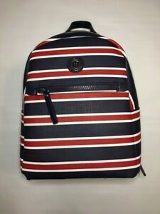 Tommy Hilfiger NWT Red  White  Blue Backpack Women's Bag Faux Leather