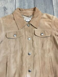Michael Kors Women Suede Leather Jacket Size Large