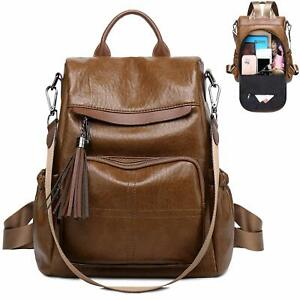Women Backpack Purses Fashion PU Leather Antitheft Casual Daypack School Shoulde