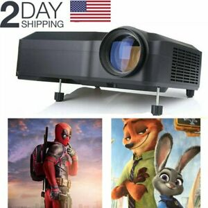 Crenova 1080P 3000:1 HDMI Video Home Projector Projection Display TV DVD Game US