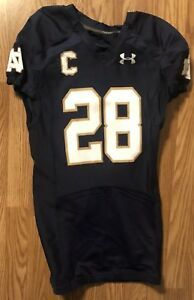 Notre Dame 2014 Under Armour Team Issued Jersey #28 AUSTIN COLLINSWORTH CAPTAIN