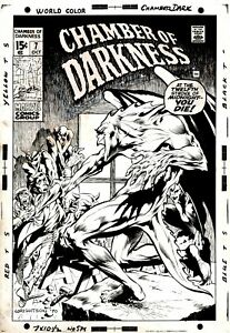 CHAMBER OF DARKNESS #7 COVER ART (VERY FIRST BERNIE WRIGHTSON MARVEL COVER) 1970