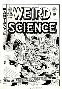 WOOD, WALLY - WEIRD SCIENCE #22 ORIGINAL COVER ART (LARGE) 1953