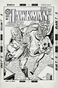 ANDERSON, MURPHY - HAWKMAN #8 ORIGINAL COVER (LARGE ART) 1965