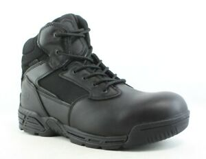 Magnum Mens Stealth Force 6.0 Waterproof Black Leather Work & Safety Boots