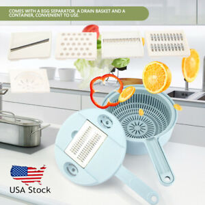 9 in 1 Slicer Plus Vegetable Fruit Dicer Cutter Chopper Grater Chopper Safety