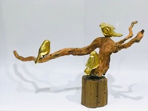 Beautiful bronze and wood sculpture by the famous Thai artist Phatchanan