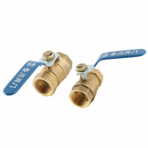 Home Metal Faucet Hose Water Oil Flow Ball Valve Connector Adaptor 2 Pcs