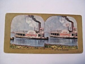 ANTIQUE ON THE MISSISSIPPI STEREOVIEW CARD CHECK OUT ALL OUR STEREOVIEW CARDS $3.00