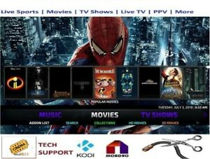 Jailbroken Amazon Fire Stick 4k HDR Kodi18.2 & Alexa Remote - Ultimate Edition